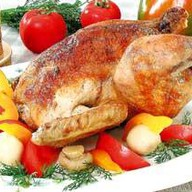 Курица фаршированная Фото