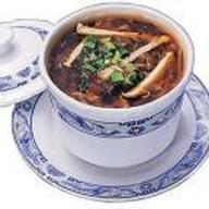 Кисло-острый суп с курицей и тофу Фото
