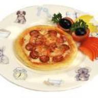 Мини пицца с сыром и ветчиной Фото