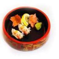Гун-кан из мяса краба Фото