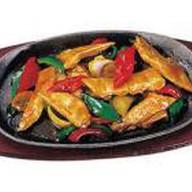 Курица с овощами и шампиньонами Фото