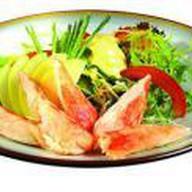 Микс салат с крабом Фото