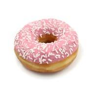 Пончик клубничная глазурь Фото