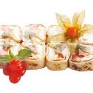 Десертный ролл фруктовый Фото