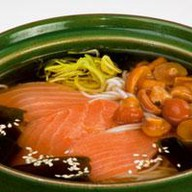 Суп-лапша с лососем Фото