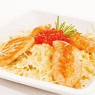 Фарфале с лососем Фото