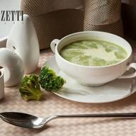 Крем-суп из брокколи с гренками Фото
