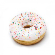 Пончик ванильная глазурь Фото