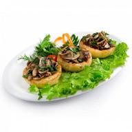 Фаршированный картофель с грибами Фото