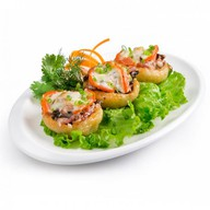 Фаршированный картофель балык-грибы Фото