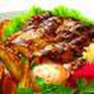 Стэйк из свинины жаренный на грил Фото