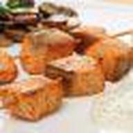 Шашлык из семги с картофелем Фото