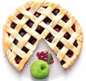 Песочный пирог с яблоком и вишней - Фото