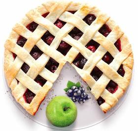 Песочный пирог с яблоком и смородиной - Фото