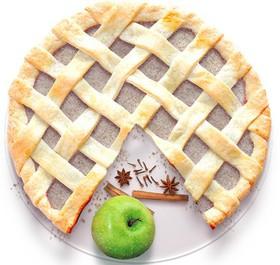 Песочный пирог с яблоком и корицей - Фото
