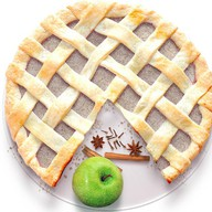 Песочный пирог с яблоком и корицей Фото