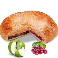 Постный пирог с яблоком и брусникой Фото