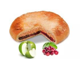 Постный пирог с яблоком и брусникой - Фото