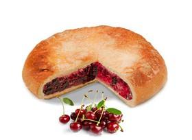 Постный пирог с вишней - Фото