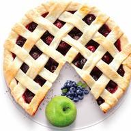 Песочный пирог с яблоком и черникой Фото