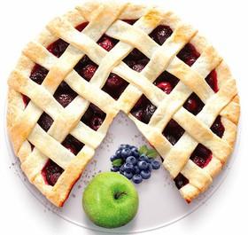 Песочный пирог с яблоком и черникой - Фото