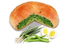 Пирог с фасолью, яйцом и зелёным луком - Фото