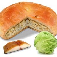 Пирог с рыбой и капустой Фото