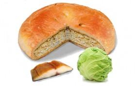 Пирог с рыбой и капустой - Фото