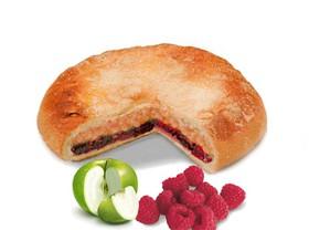 Пирог с яблоком и малиной - Фото