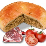 Пирог с бараниной и помидорами Фото