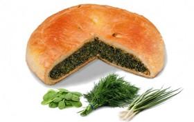 Пирог со шпинатом и зеленью - Фото
