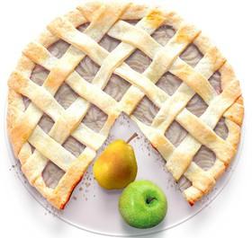 Песочный пирог с грушей и яблоком - Фото