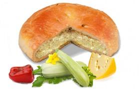Пирог с кабачком, перцем и сыром - Фото