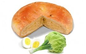 Пирог с капустой, яйцом и луком - Фото