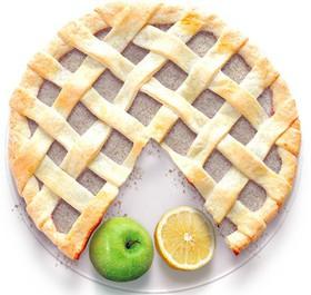 Песочный пирог с лимоном и яблоком - Фото