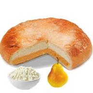 Песочный пирог с творогом и грушей Фото