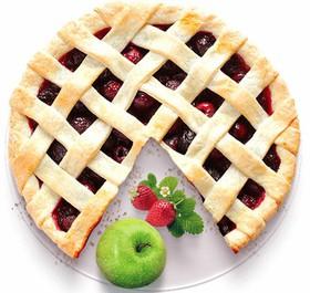 Песочный пирог с яблоком и клубникой - Фото