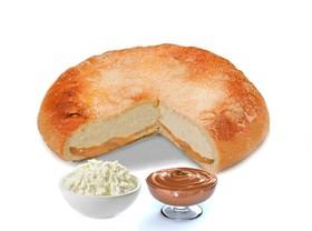 Пирог с творогом и сгущёнкой - Фото