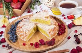 Пирог с лимоном и яблоком - Фото
