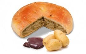 Пирог с печенью и картошкой - Фото