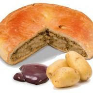 Пирог с печенью и картошкой Фото