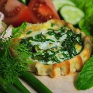 Перепечки с яйцом и зеленым луком Фото
