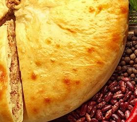 Пирог с фасолью и грибами - Фото