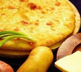 Пирог с картофелем и зеленым луком - Фото