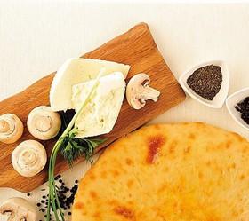 Пирог с сыром и грибами - Фото