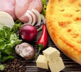 Пирог с сыром и курицей - Фото