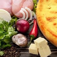 Пирог с сыром и курицей Фото