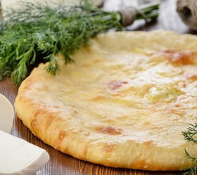 Пирог с сыром и укропом - Фото
