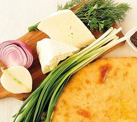 Пирог с сыром, капустой и зеленым луком - Фото