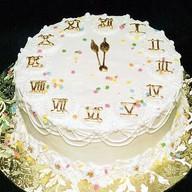 Новогодний торт со сливками Фото